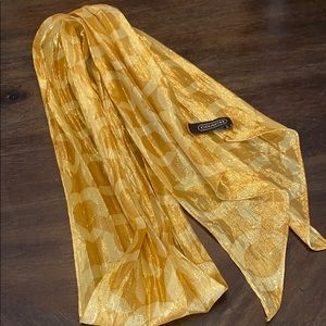 Coach Scarf - Gold Shimmery